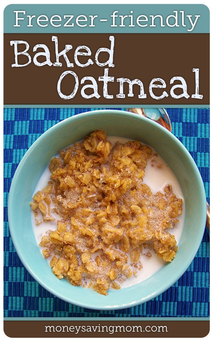 Freezer-Friendly Baked Oatmeal -- such an easy and delicious make-ahead breakfast recipe!