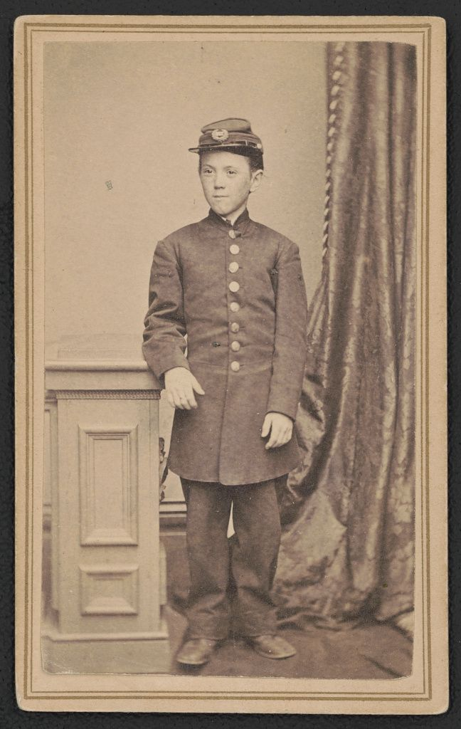 [Drummer Jimmy Doyle of Co. B, 18th U.S. Infantry Regiment] / Moulthrop, photographer, Phoenix Building, 298 Chapel St., N. Haven, Ct. | Library of Congress