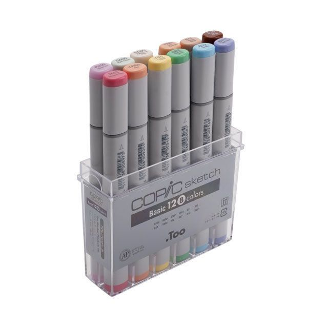 24 Professional Markers For Drawing Sketch Markers for Illustration Manga Markers With Blender Marker