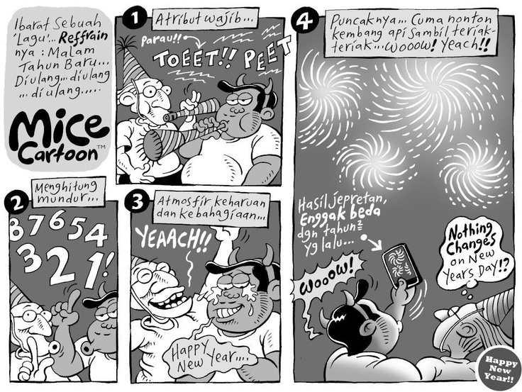 Mice Cartoon, Kompas 06.01.13: Nothing Changes on New Years Day