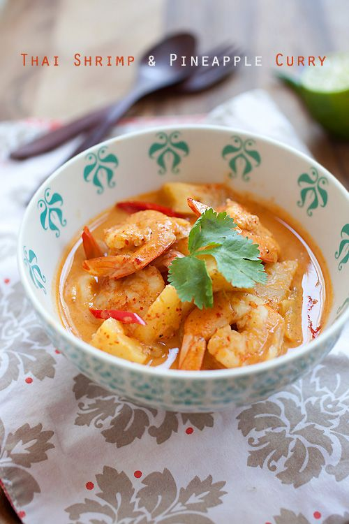 Thai Shrimp & Pineapple Curry - shrimp & pineapple are the best combos for this amazing and super delish curry. Takes 15 minutes to make   rasamalaysia.com
