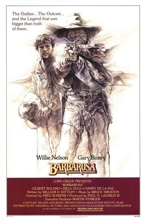 Barbarosa (1982) universal pictures: Barbarosa Inaccur, Cowboys Hooks, Movie Posters, 1982 Motion, Stars Willis, Barbarosa 1982, Willis Nelson, Barbarosa Movie, Pictures Stars
