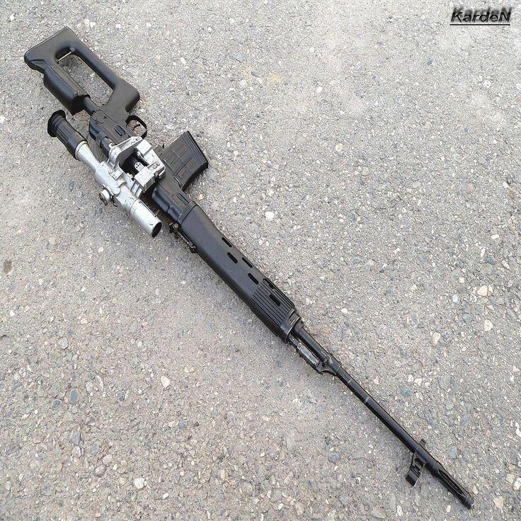 Dragunov svd sniper rifler