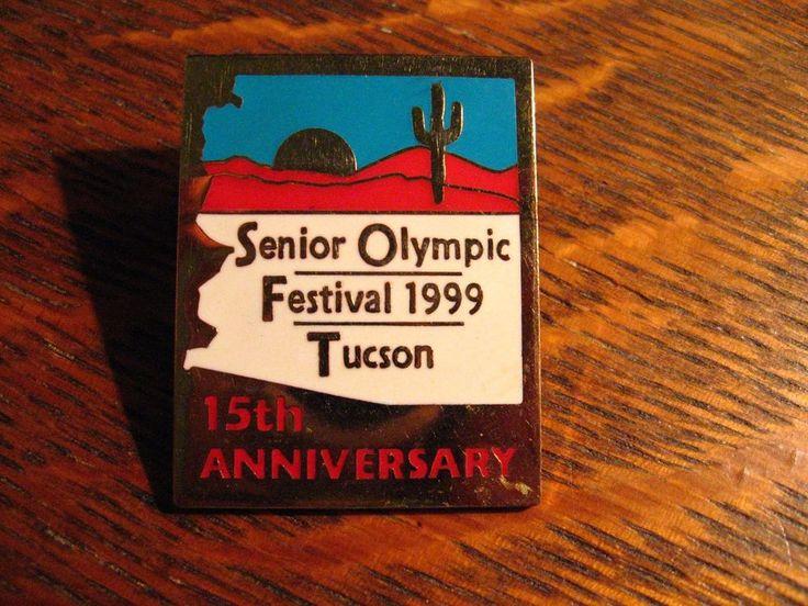 Senior Olympics Lapel Pin - Vintage 1999 Tucson Arizona USA Olympic Festival Pin