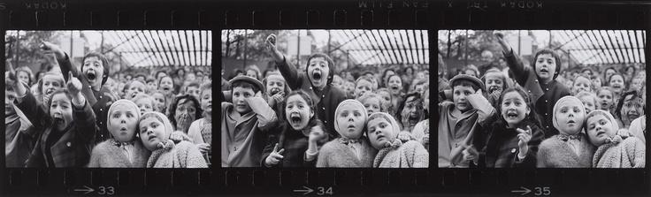 ALFRED EISENSTAEDT    Dirschau/Westpreußen 1898 - 1995 Long Island       THREE FRAMES OF CHILDREN AT A PUPPET THEATRE, PARIS   1963