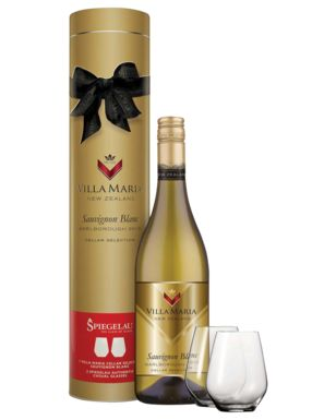 Villa Maria Cellar Selection Sauvignon Blanc & Spiegelau Wine Glass Set