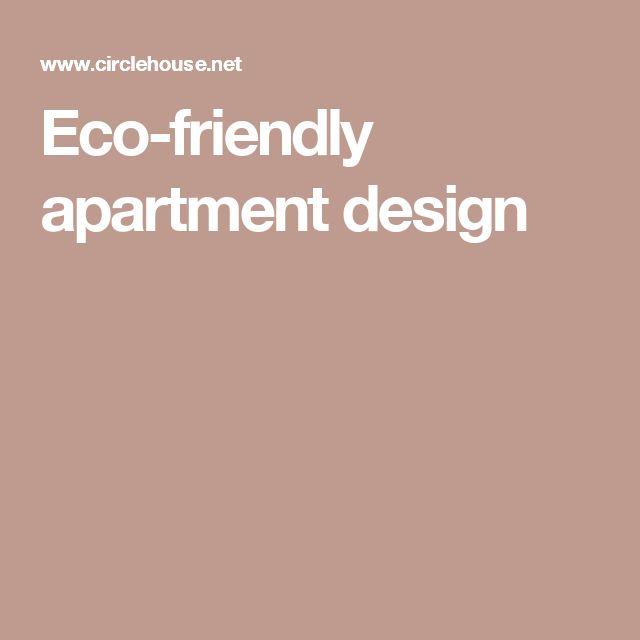 Eco-friendly apartment design