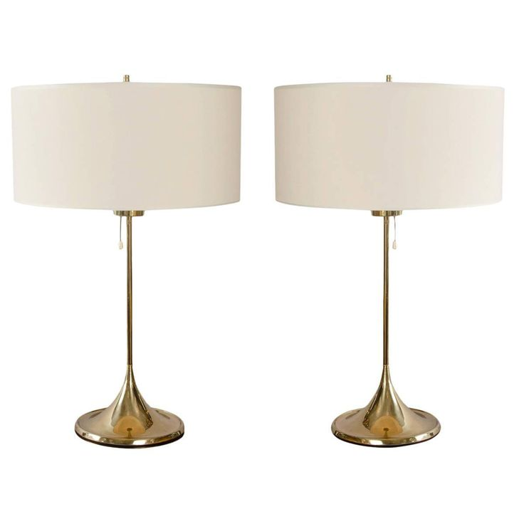 Pair of 1950s Scandinavian Lamps by Bergbom | From a unique collection of antique and modern table lamps at https://www.1stdibs.com/furniture/lighting/table-lamps/