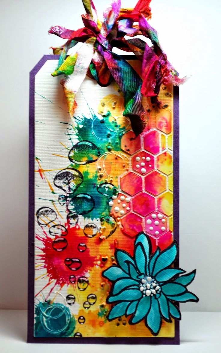 #papercraft #tag - Beautiful! Eileen's Crafty Zone: using Designs by Ryn: Rising Bubbles and African Daisy stamps