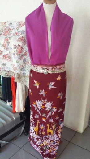Hand painted tulis sarong
