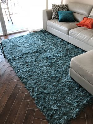 Area Rug Shag Turquoise For Sale In Pompano Beach Fl My House