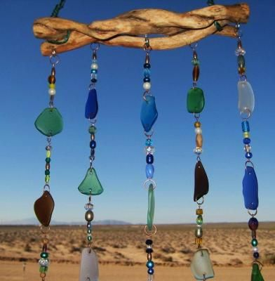 @Nancy E Avila. I thought this would be a great idea for some of your big pieces of sea glass!