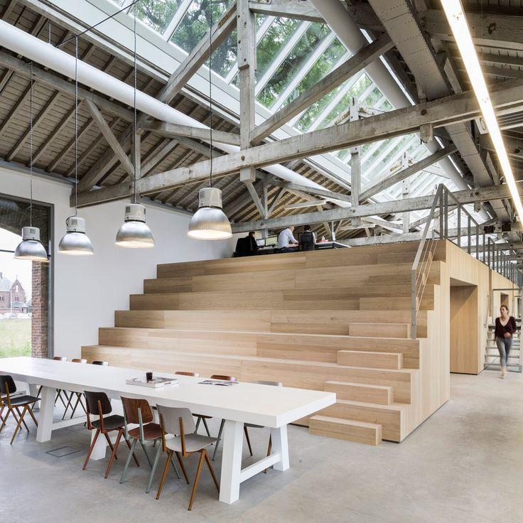 bedaux de brouwer transforms railway warehouse into office advertising agency office szukaj google