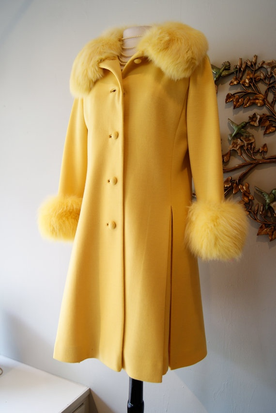 60s Dress and Coat Set / Vintage 1960s Yellow by xtabayvintage, $198.00