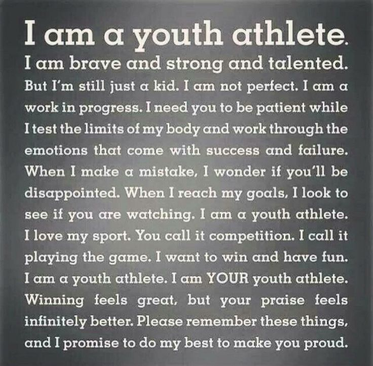 Every young athlete:)