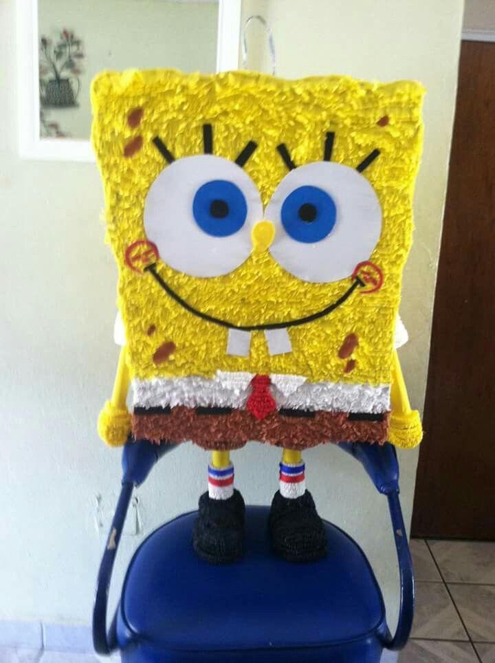 Bob esponja piñata. Síguenos en facebook ART-piñatas.