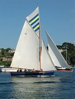 Traditional Falmouth Oyster Boat,       Cornwall