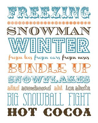 Winter, from Funky Polkadot Giraffe. LOVE this! Need to print it! http://funkypolkadotgiraffe.blogspot.com/2012/01/january-fun-winter-subway-and-snowman.html