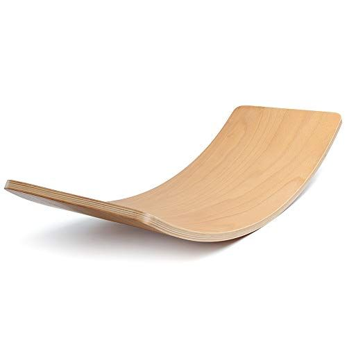 Rocking and Sliding Great for Wobbling Spinning LuckIn Wooden Balance Board for Kids Waldorf Balance Toy