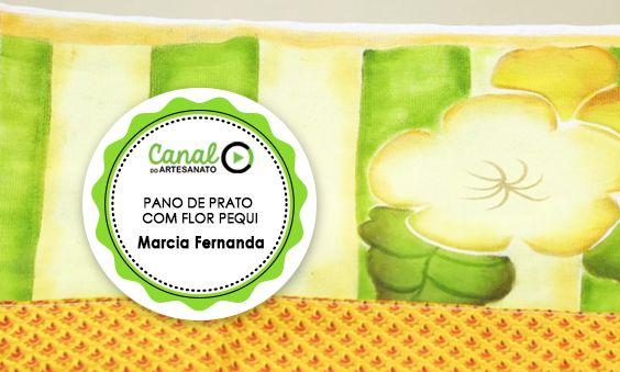 PANO DE PRATO COM FLOR PEQUI - MARCIA FERNANDA