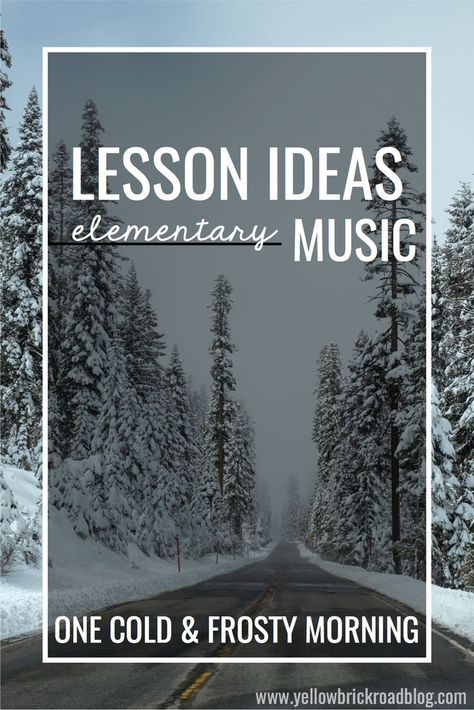 """Great music lesson plan ideas for the winter months, with free printables for Orff activities!"""