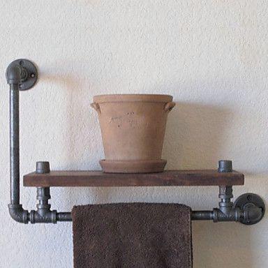 industriële stijl plank boekenkast shelf industriële loodgieterswerk pijp retro naar de oude rack plank handdoek rack-Z39 doen 4252054 2016 – €73.49