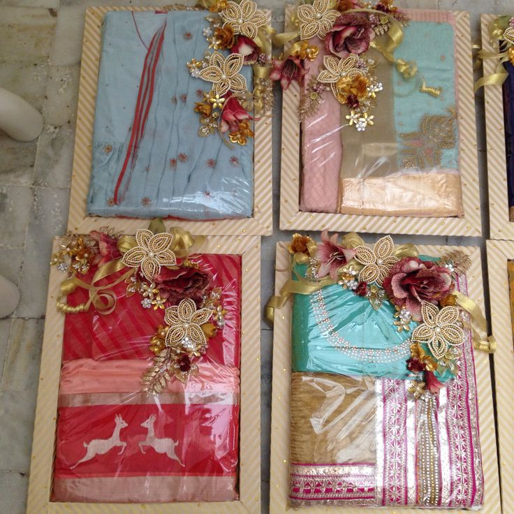 Wedding Gift Packing Ideas For Bride : Saree#packing#indian wedding Treasured Wrapping Pinterest Ideas ...