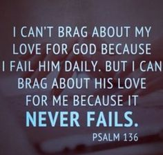 I fail Him everyday. But because I am loved, His faith will fill in the gaps my mistakes leave behind❤