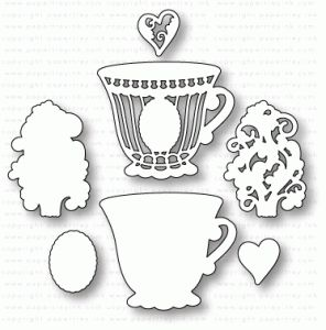 Papertrey Ink - What the Doodle: Tea Time Die $18