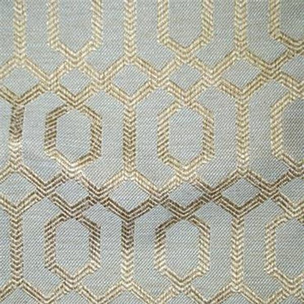 Parquet Silver Sage Gray Blue Geometric Upholstery Fabric   SW55072   |  Discount By The Yard