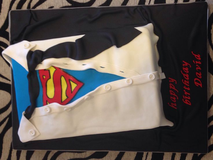 Superman cake for adults