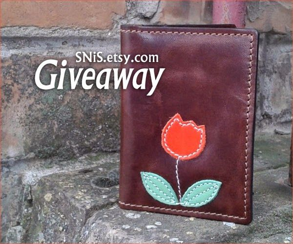 Handmade #Giveaway! Enter to #win tulip wallet from SNiS Leather Goods by 11:59pm EST on May 5, 2015.