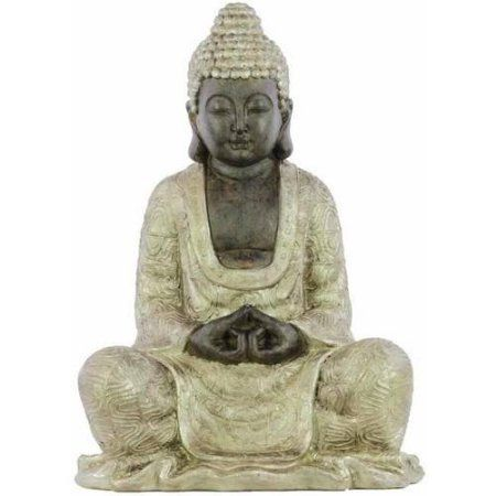 Urban Trends Collection: Resin Buddha Figurine, Matte Finish, Brown, Beige