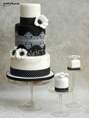 http://www.lemienozze.it/gallerie/torte-nuziali-foto/img33686.html  Torta nuziale bianca e nera