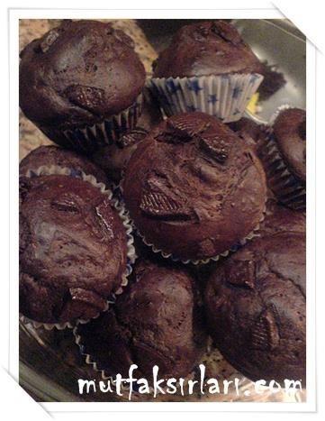 Kakaolu Bitter Çikolatalı Muffin - Tarifin püf noktaları, binlerce yemek tarifi ve daha fazlası...