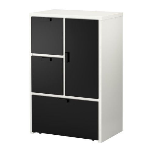 odda 3 drawer chest with 1 door ikea smooth running drawer with pull out stop the casters make. Black Bedroom Furniture Sets. Home Design Ideas