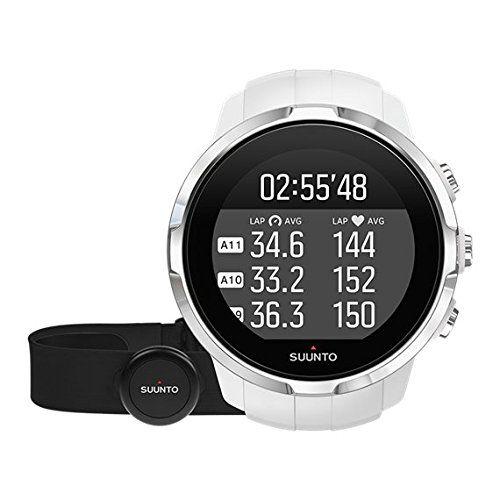 Suunto, Spartan Sport White HR, Montre GPS Multisport pour Athlètes, Unisexe, 10h d'Autonomie, Étanche, Cardiofréquencemètre + Ceinture…