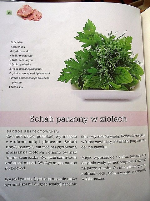 Schab parzony w ziołach