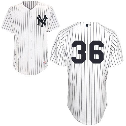 Men's MLB New York Yankees #36 White Jersey