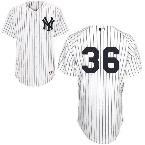 Men's MLB New York Yankees #36 White Jersey