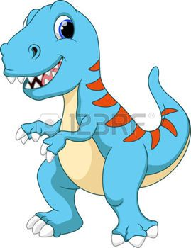 Cute Tyrannosaurus cartoon photo