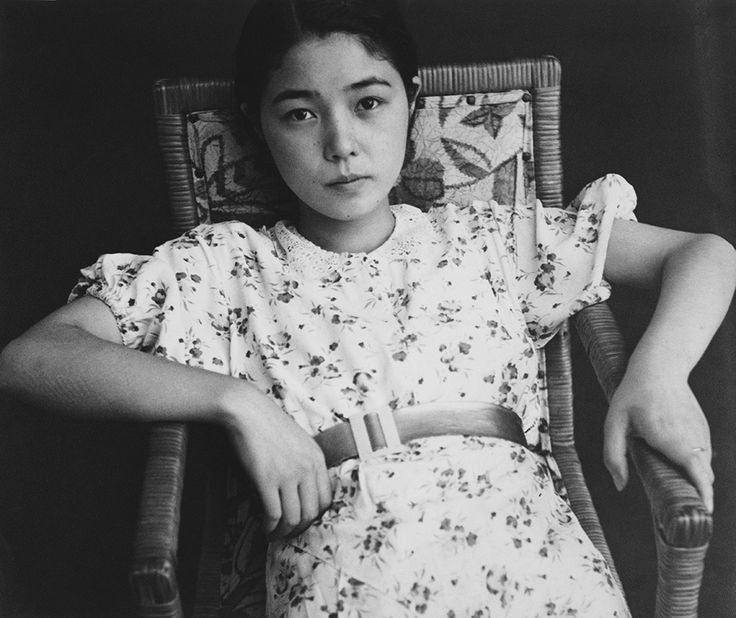 Shoji Ueda. Tired looking Japanese girl.
