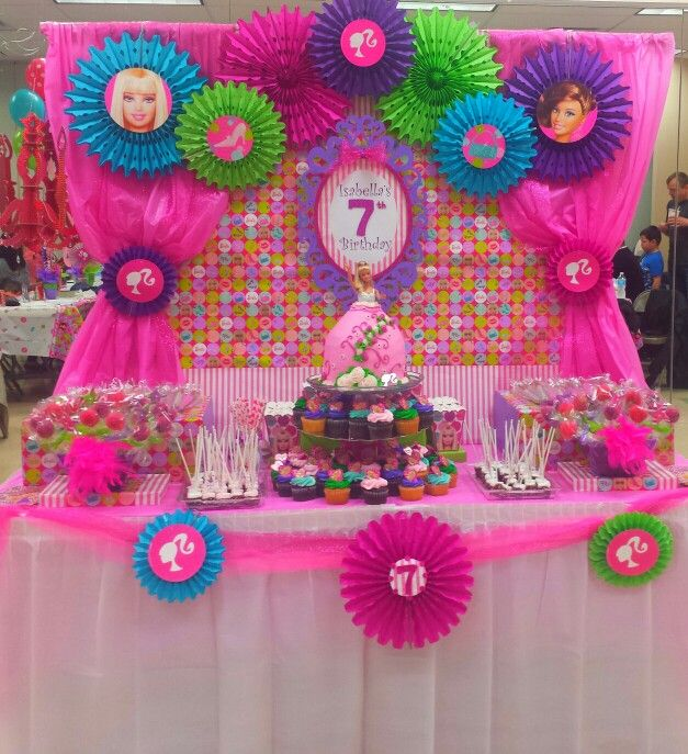 My girlfriend Christy made this for her daughter's Barbie themed party...awesome.