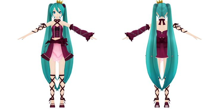 Project Diva F 2nd, Vintage Miku by xXNekochanofDoomXx.deviantart.com on @DeviantArt