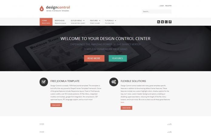 Design Control -simplistic, #responsive, #FREE Joomla 3.x template that will adapt to a wide variety of websites.  This template comes packed with all the great features of the Shape5 Vertex #Framework.