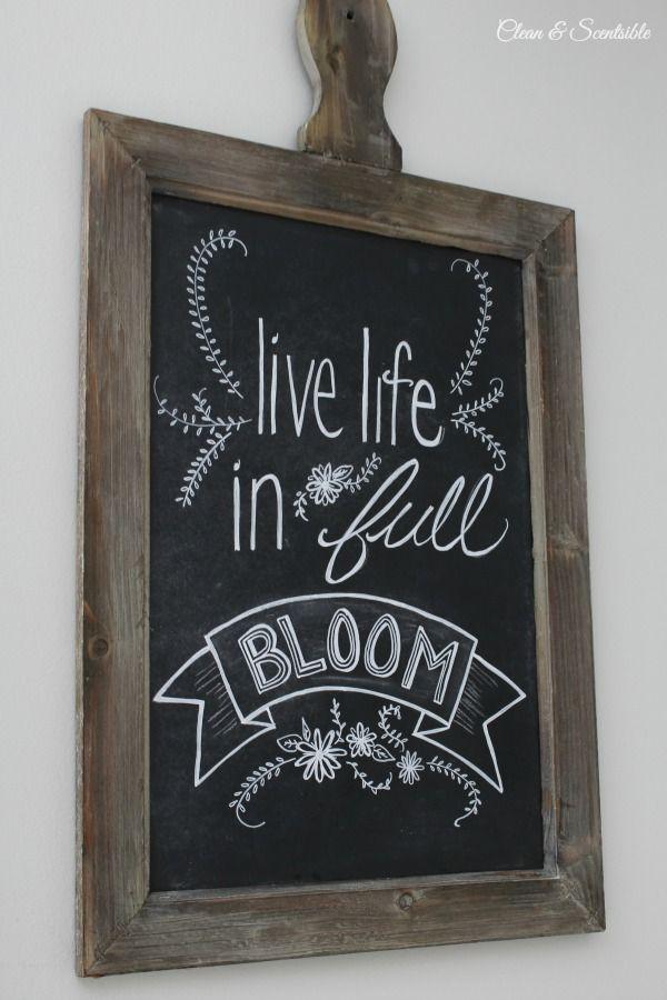 I love this spring chalkboard art!