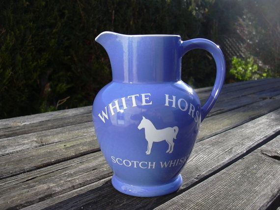 Vintage White Horse Scotch Whisky water jug by MyNiftyBrocante