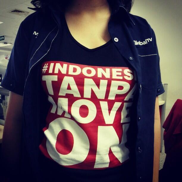 Indonesia tanpa move on? BIsa aja! Dapetin kaosnya Anti Move On Oleh OcDmn