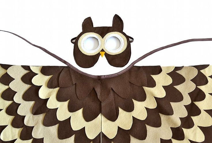 Kids Owl Costume Children Bird Wings and Mask Dress