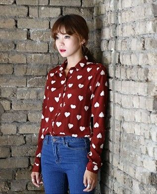 Sweet Fashion Retro Love Floral Blouse